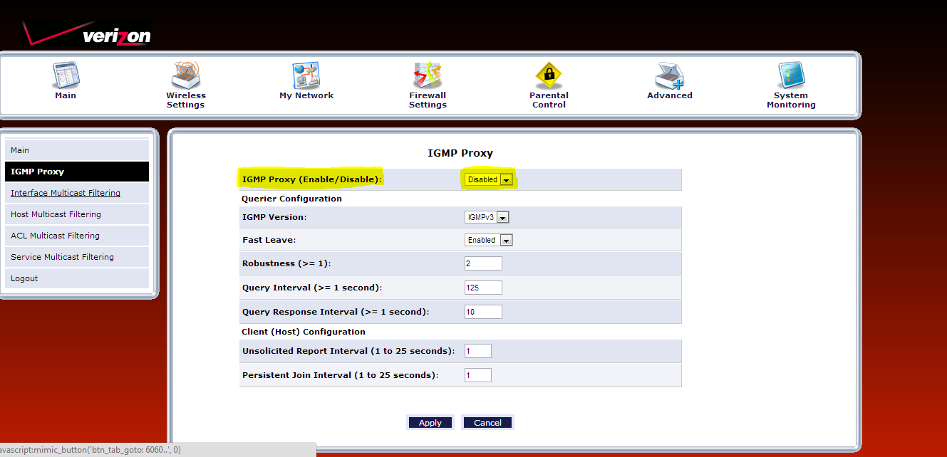 Verizon Actiontec MI424-WR Proxy Configuration – BluOS